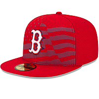 Boston Red Sox 2015 Authentic Collection Stars & Stripes Diamond Era 59FIFTY On-Field Game Cap